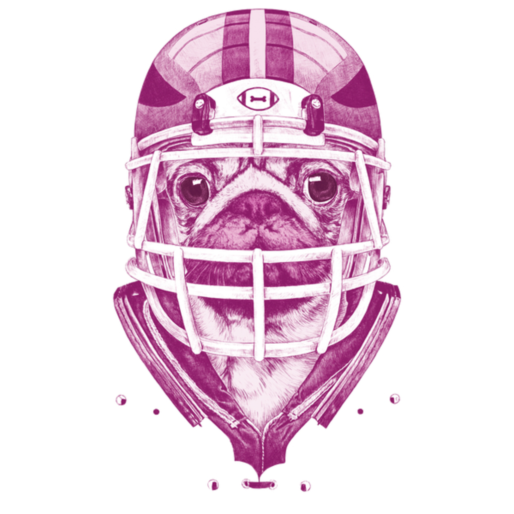 NeatoShop: American Pug Football Purple