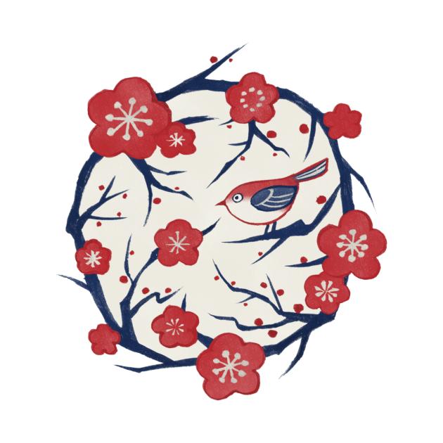 TeePublic: Ume Flower (梅の花/Plum Blossom)