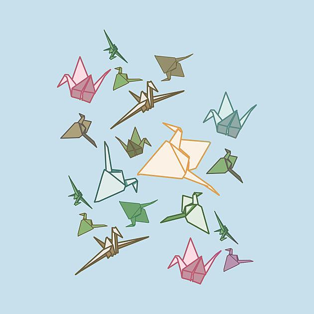 TeePublic: Paper Cranes origami birds