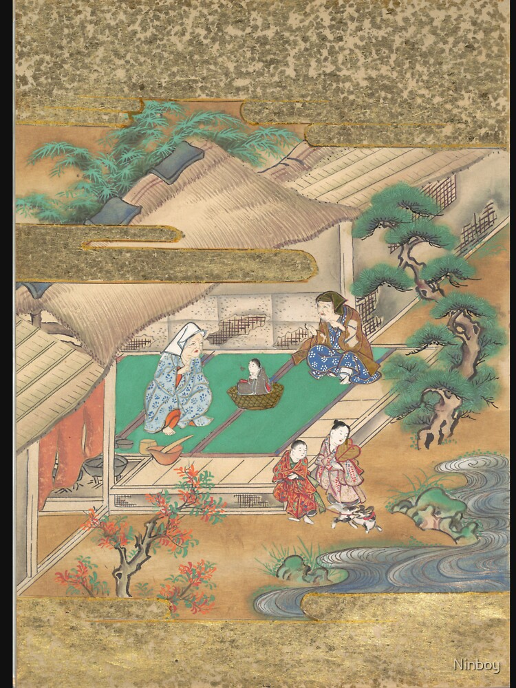 RedBubble: The Tale of the Bamboo Cutter - Discovery of Princess Kaguya, 17th Century