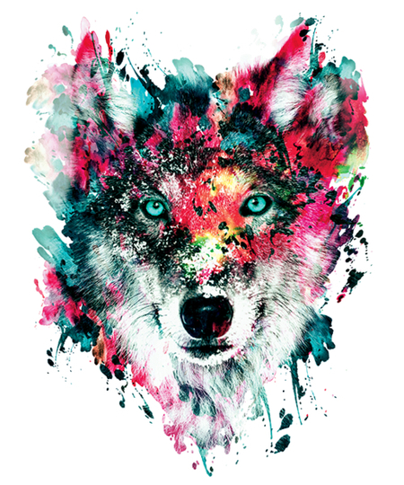 Qwertee: The Wolf