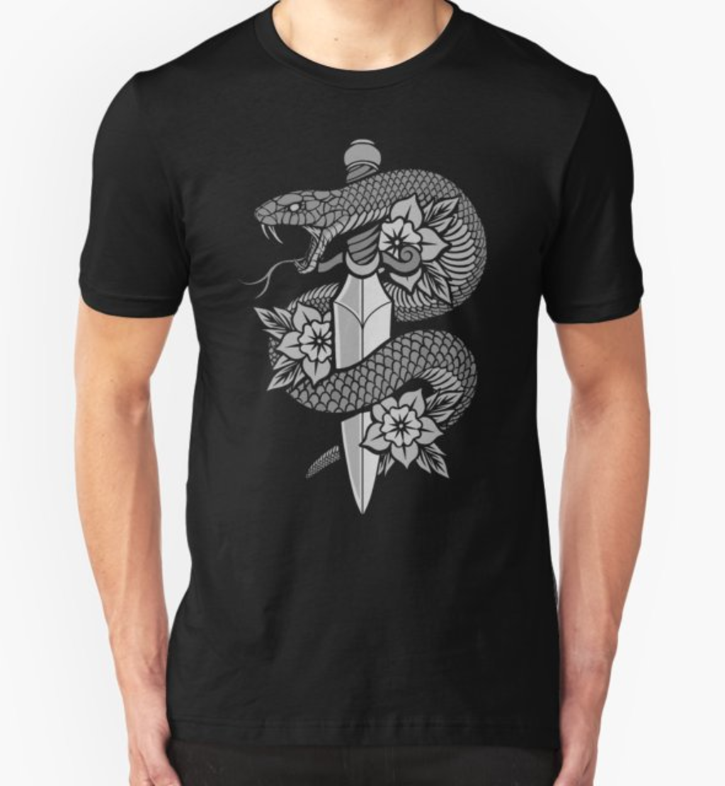 RedBubble: Snake & Dagger