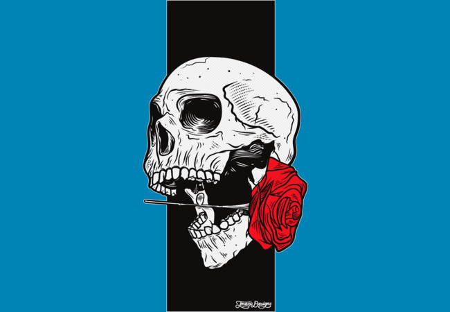 Design by Humans: Skull & Roses