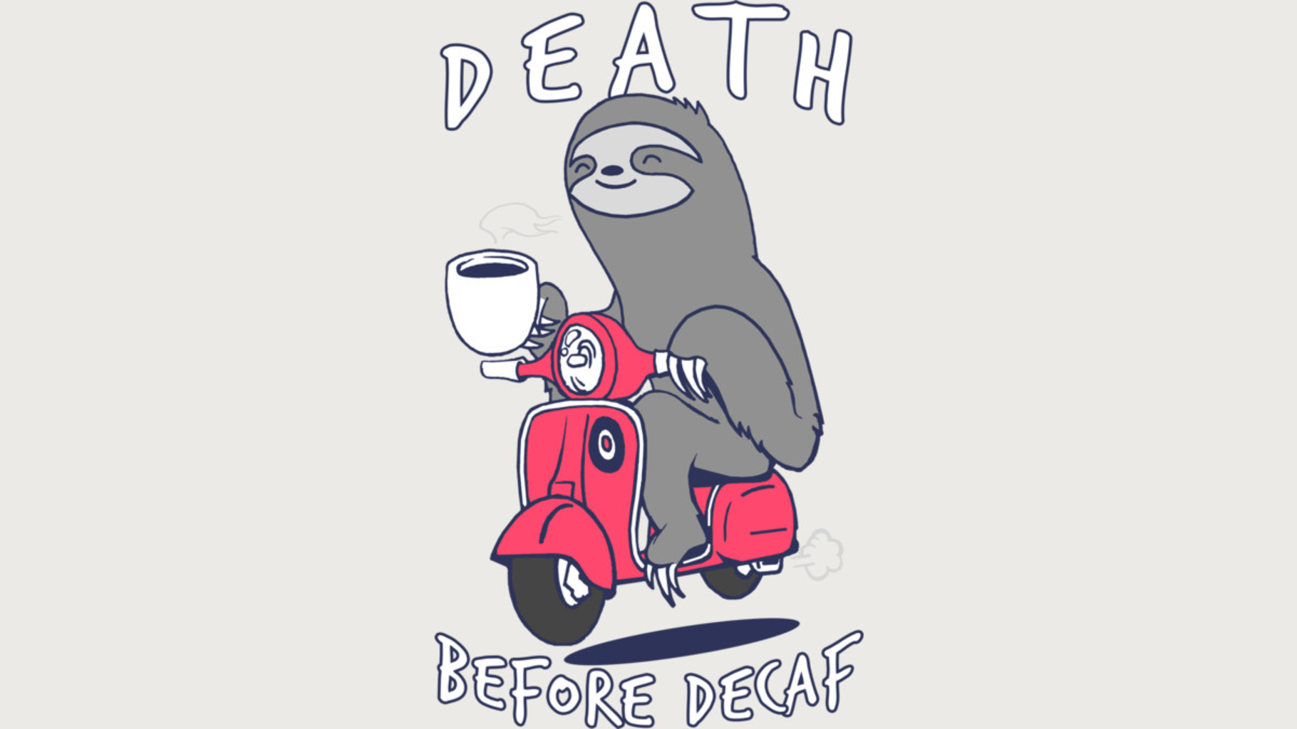 Design by Humans: Coffee Scooter Sloth