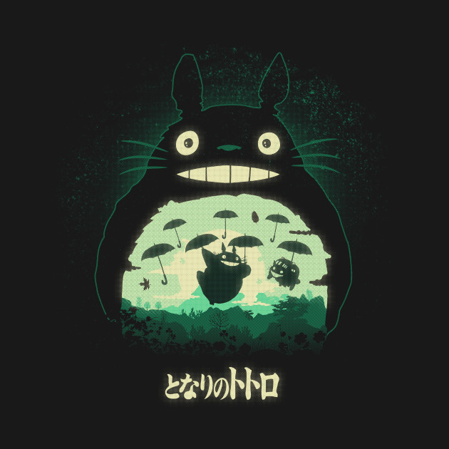 TeePublic: Totoro And His Umbrellas
