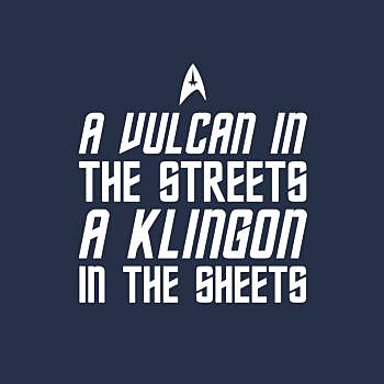 BustedTees: Klingon In The Sheets