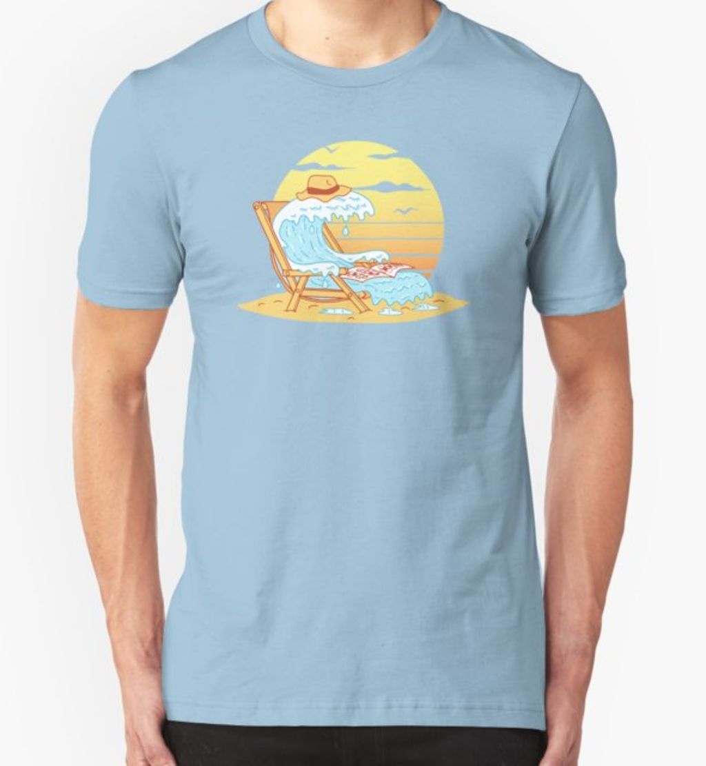RedBubble: WAVE ON THE BEACH