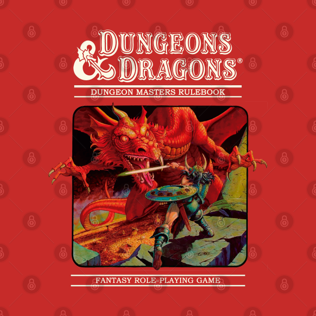 TeePublic: Dungeons and Dragons - DM rulerbook Cover