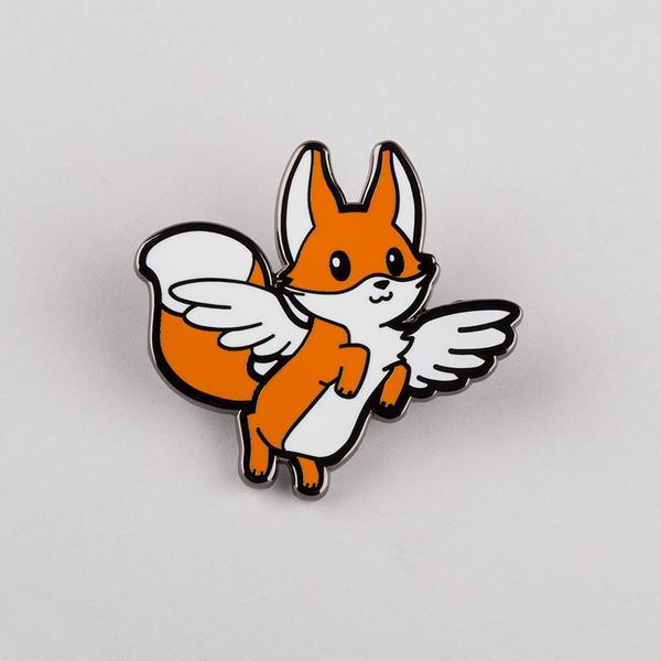 TeeTurtle: Flying Fox Pin