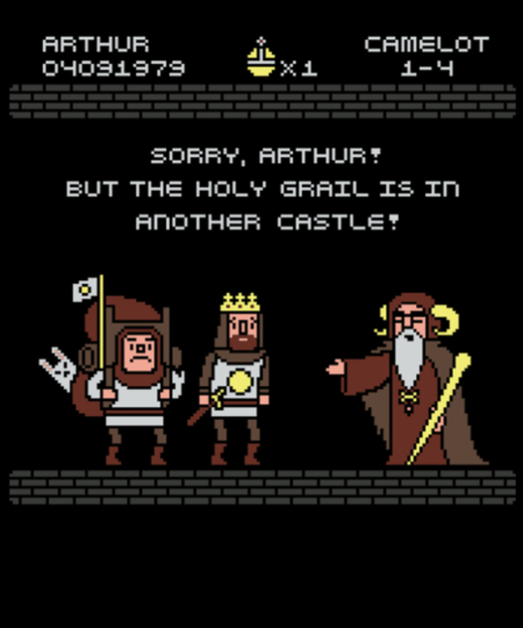 Qwertee: The Grail is in Another Castle