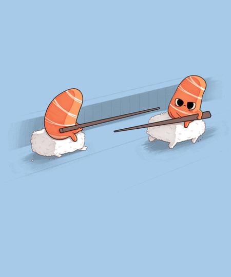Qwertee: Sushi Jousting