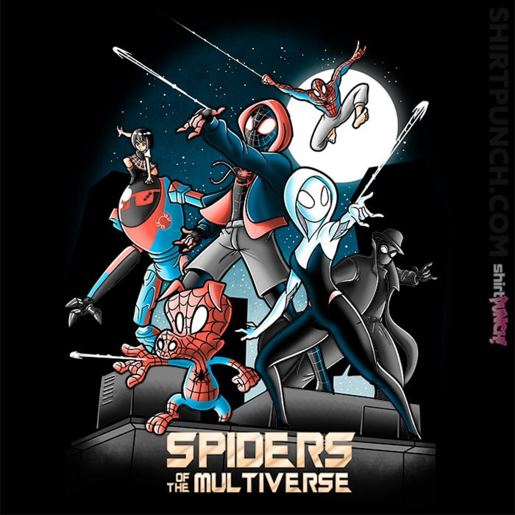 ShirtPunch: Spiders Of The Multiverse