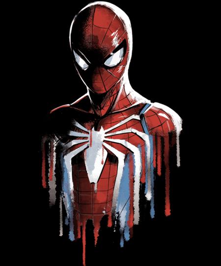 Qwertee: Watercolour Spider