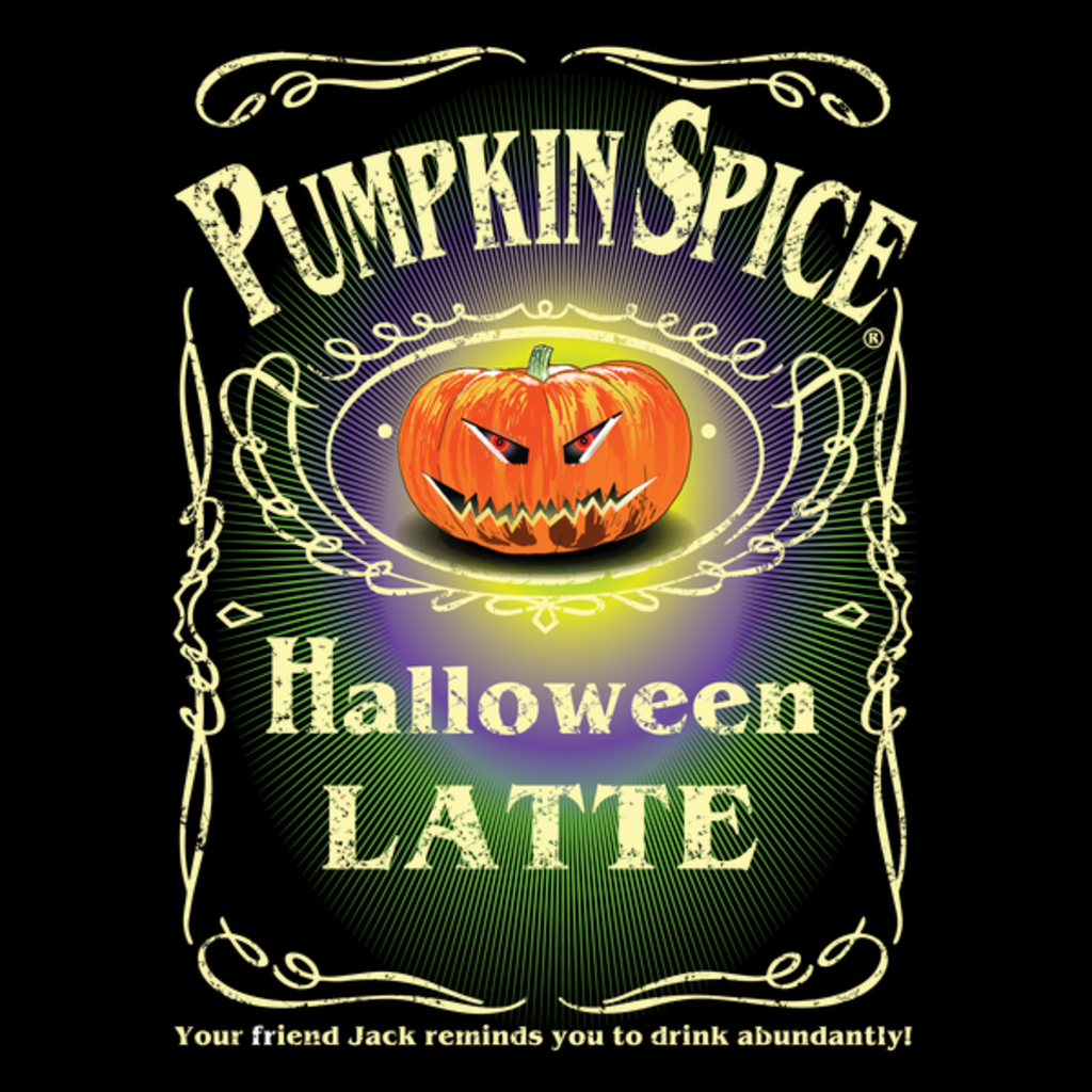 NeatoShop: PUMPKIN SPICE HALLOWEEN LATTE DISTRESSED