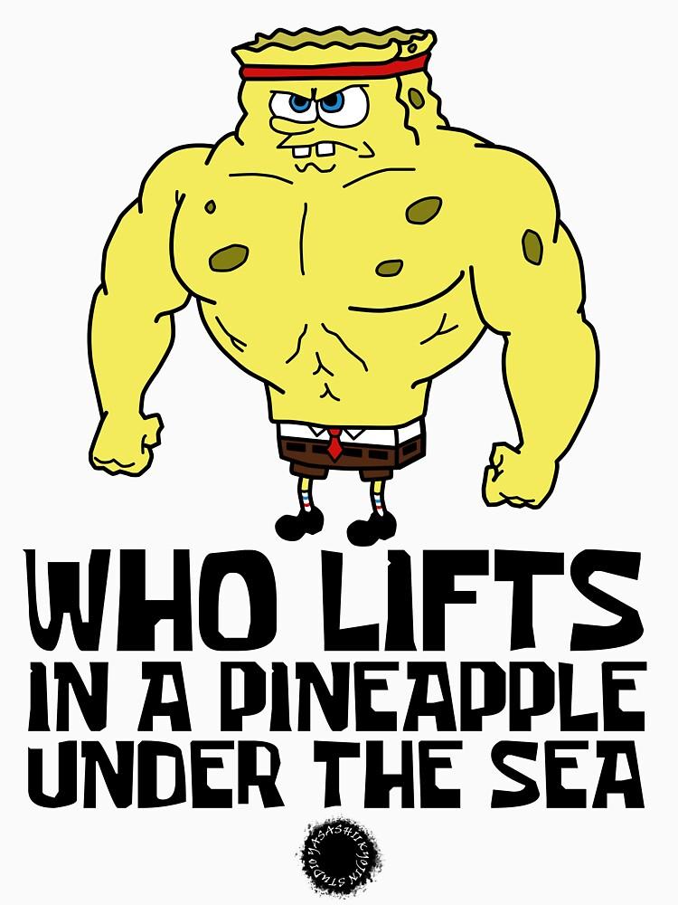 RedBubble: Spongebob - Who Lifts [Colour] || Gym Gear