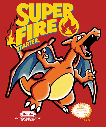 Qwertee: Super Charizard Bros