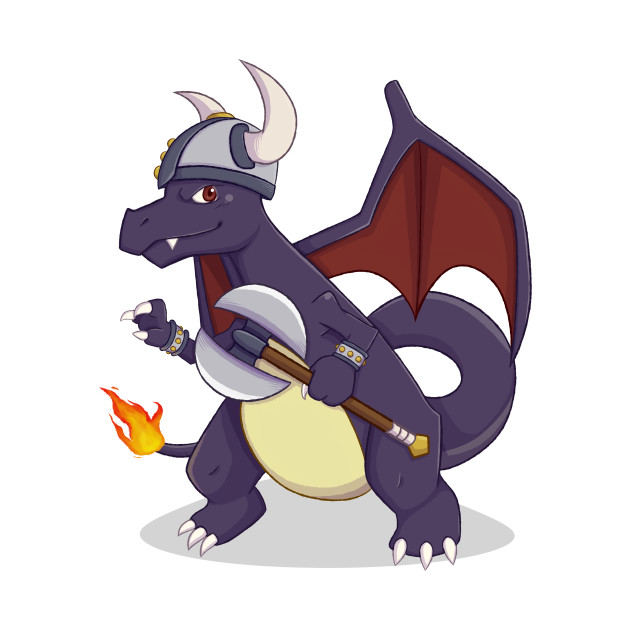 TeePublic: Shiny Viking Charizard