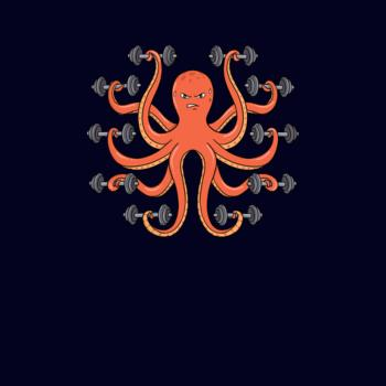 BustedTees: Gym funny Octopus