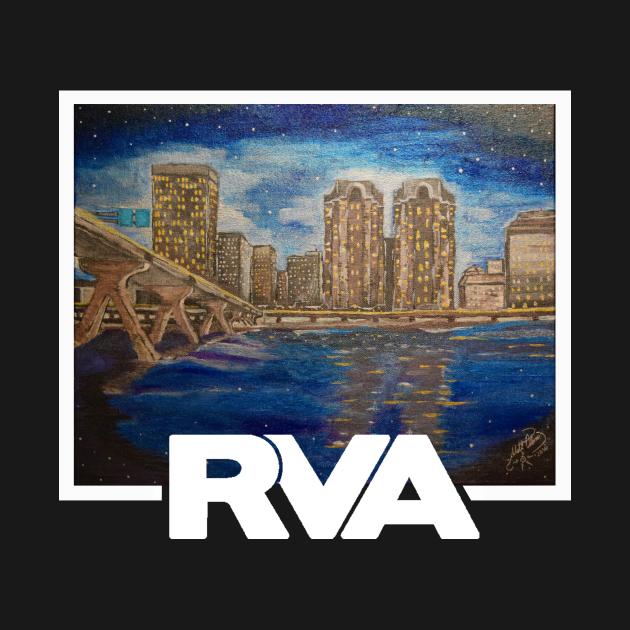 """TeePublic: RVA """"River City Blues"""""""