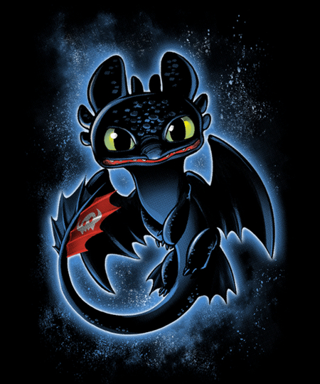 Qwertee: Night Dragon