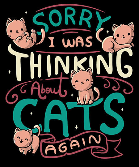 Qwertee: Thinking About Cats