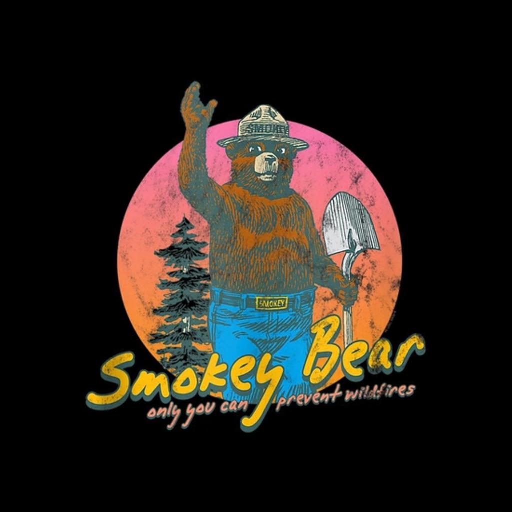 BustedTees: Smokey Bear Retro