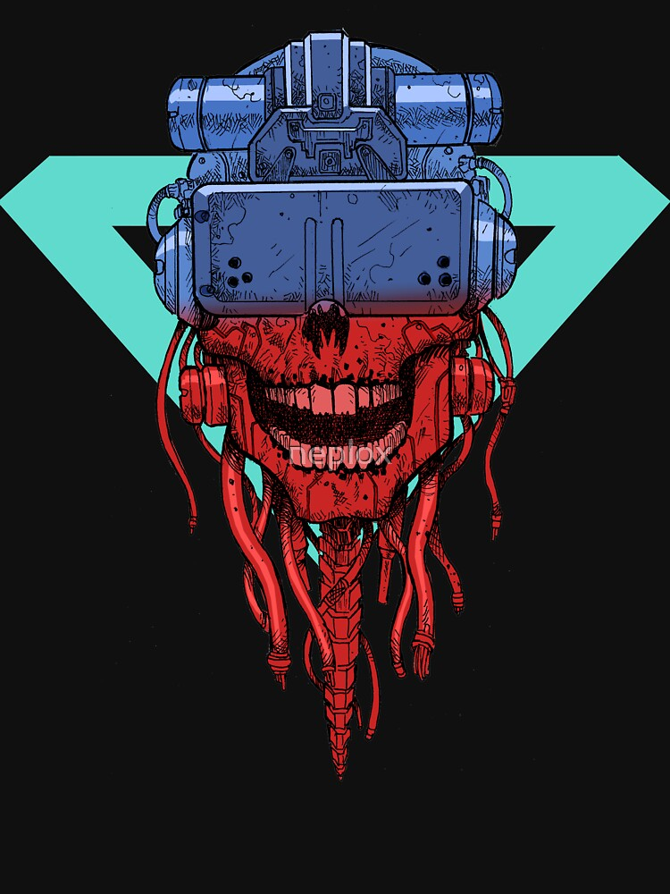 RedBubble: cyber punk skull