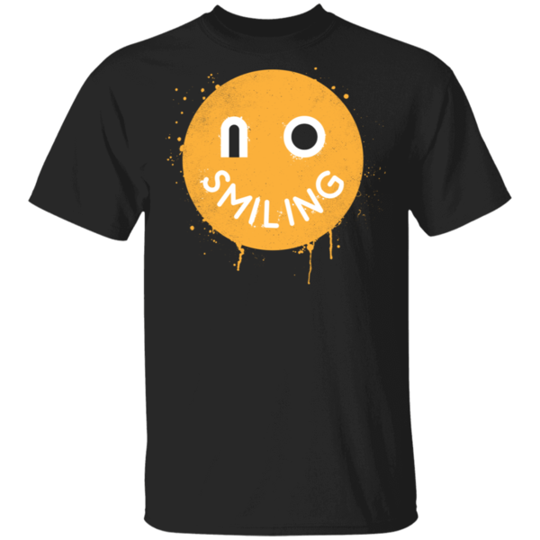 Pop-Up Tee: No Smiling