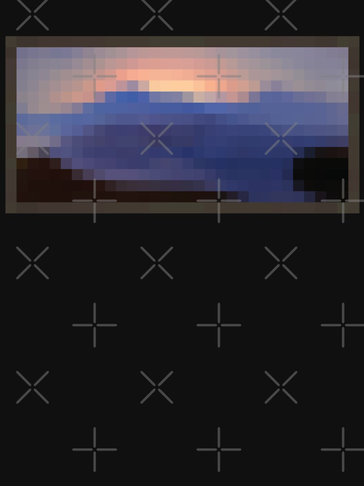 RedBubble: Minecraft Painting Sunset