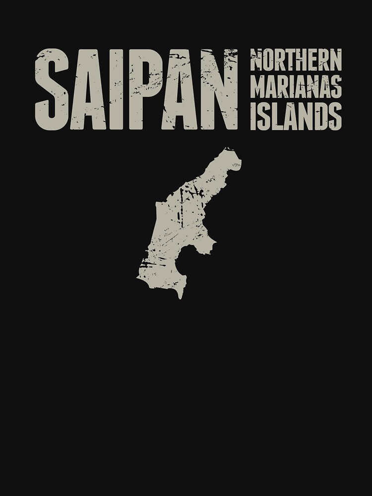 RedBubble: Distressed Saipan Northern Marianas Islands