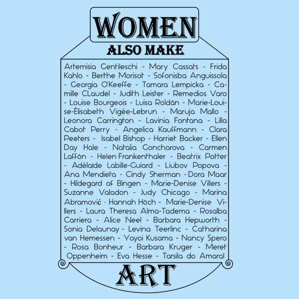 NeatoShop: Women also make art (black)