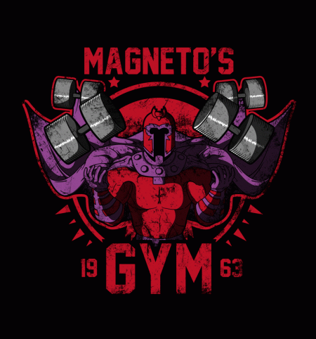 BustedTees: Magneto's Gym