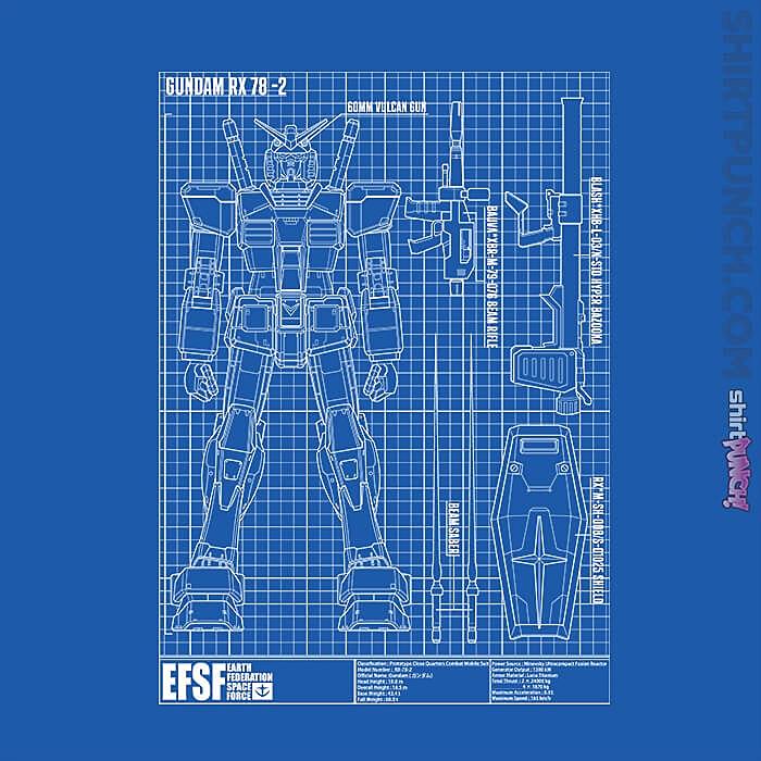 ShirtPunch: RX-78-2 Blueprint