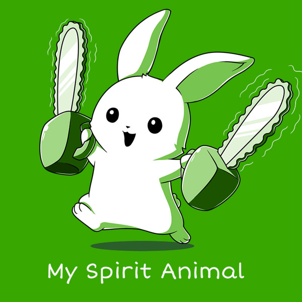 TeeTurtle: Running With Chainsaws (Green)