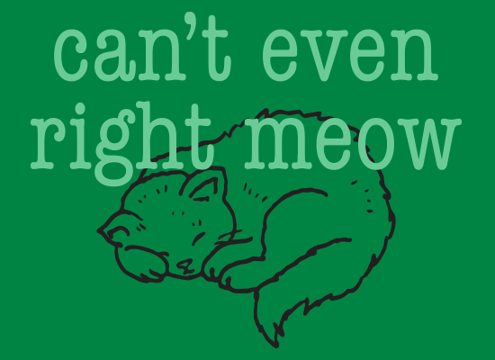 SnorgTees: Can't Even Right Meow