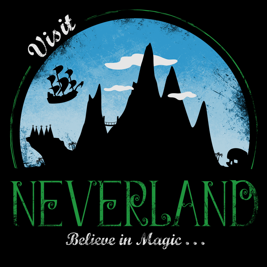 Pop-Up Tee: Visit Neverland