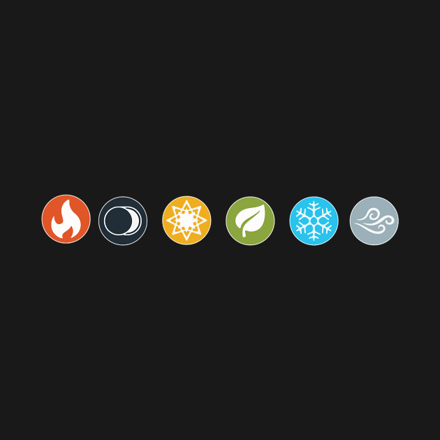 TeePublic: Gloomhaven Element Symbols Board Game Graphic - Tabletop Gaming