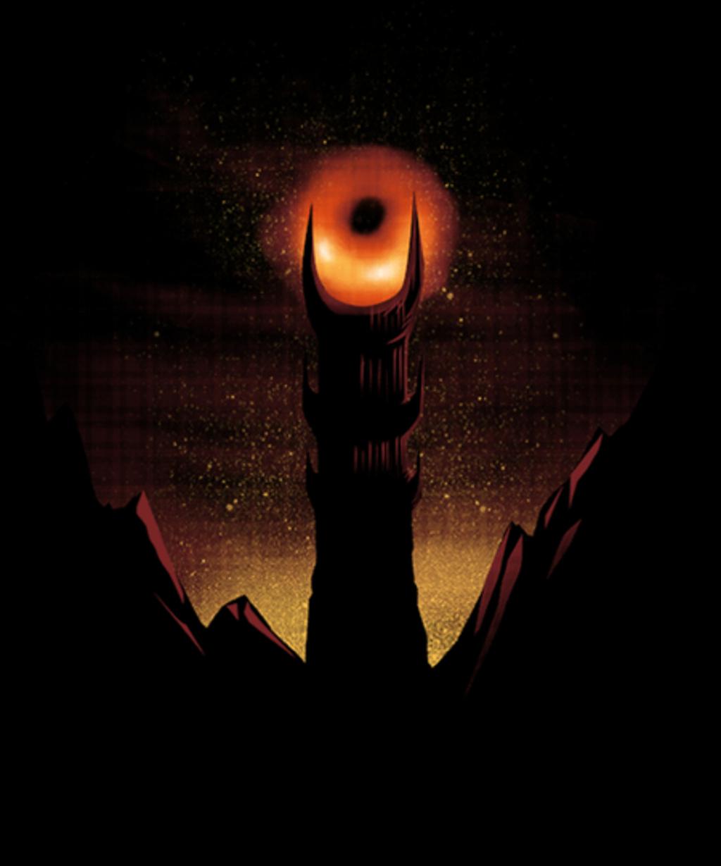 Qwertee: Blackhole Sauron