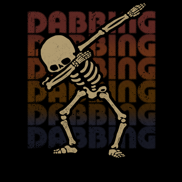 NeatoShop: Dabbing Skeleton Type Rainbow