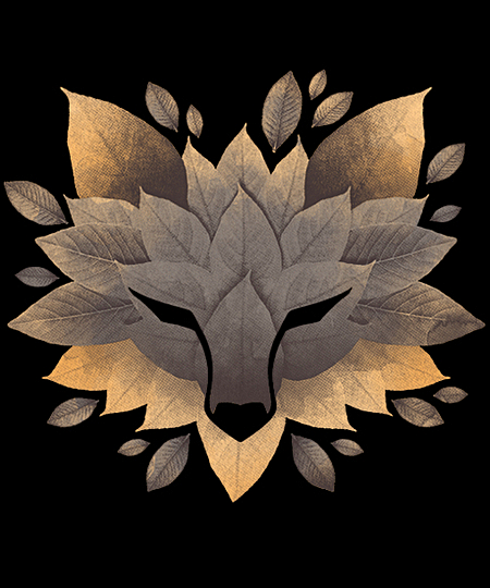 Qwertee: Wolf of leaves