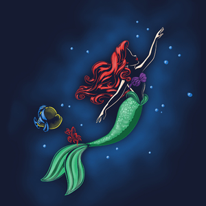 Qwertee: Mermaid Sea
