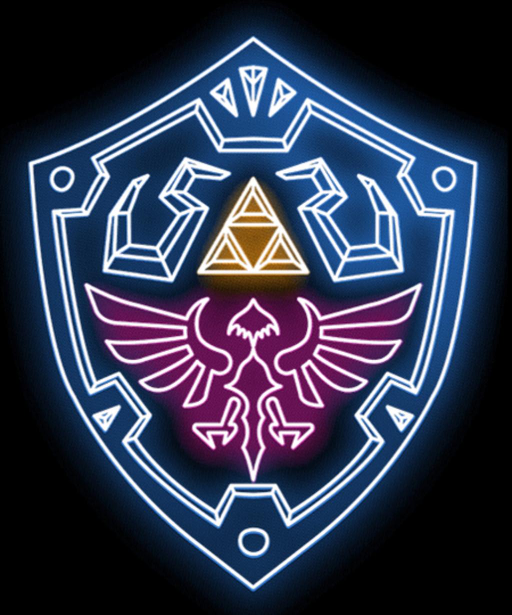 Qwertee: Neon Shield