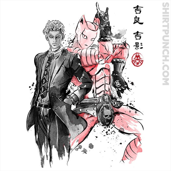 ShirtPunch: Killer Queen Sumi-e