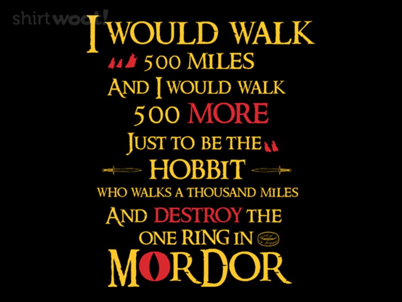Woot!: Hobbit Will Walk 500 Miles