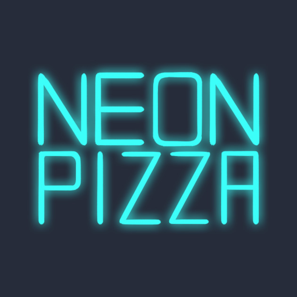 TeePublic: Neon Pizza T-Shirt