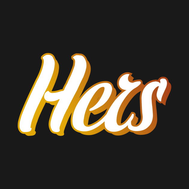 TeePublic: Hers: Couple Shirt