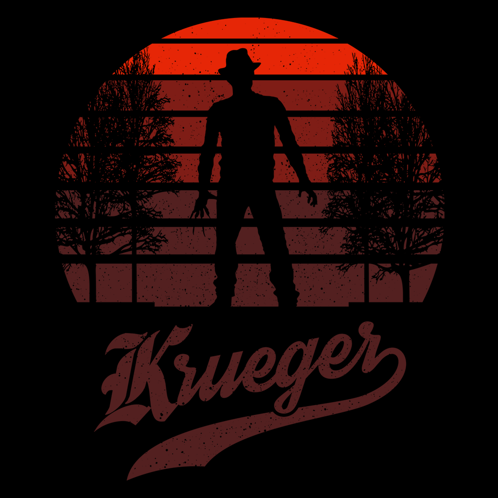 Pop-Up Tee: Horror Sun Set Krueger