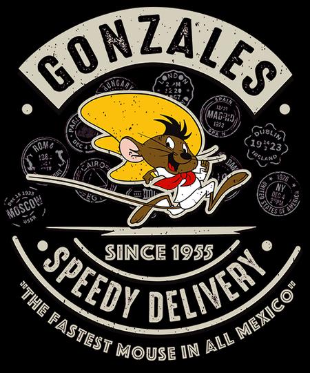 Qwertee: Gonzales Speedy Delivery Service