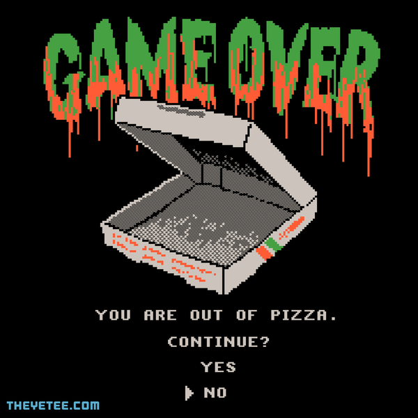 The Yetee: You Are Out Of Pizza