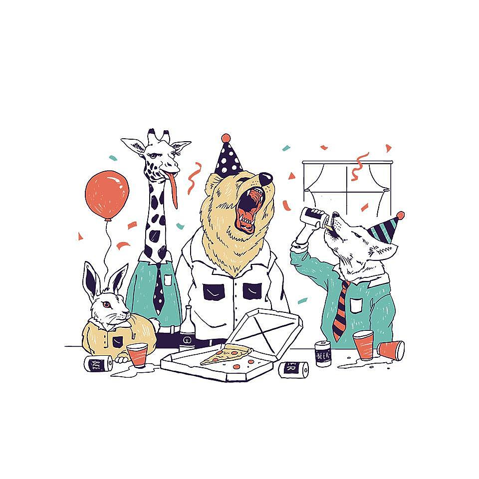 TeeFury: Party Animals